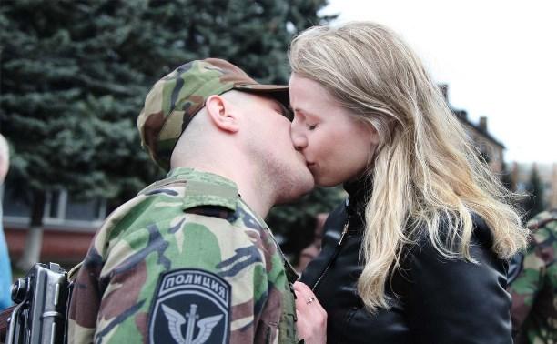 Отряд тульского ОМОНа отправился в командировку в Дагестан