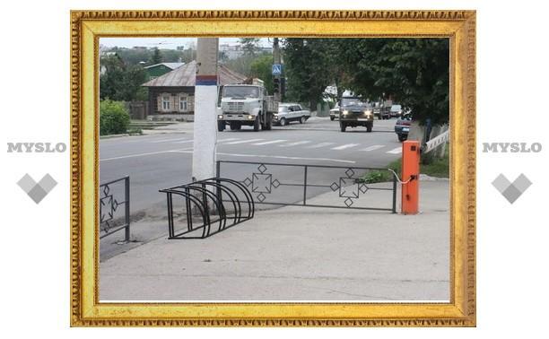 В Туле начали активно устанавливать велопарковки