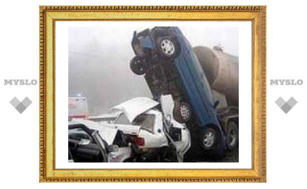 Под Тулой столкнулись более 40 машин