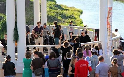 Немецкая группа Nanofish Dipper дала концерт в ротонде на Упе