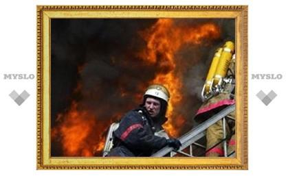 В поселке Станционный под Тулой сгорел жилой дом