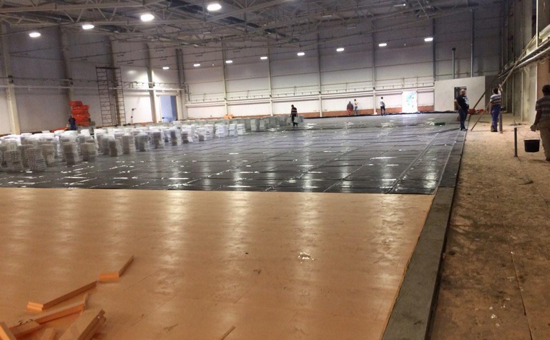 Строительство новой ледовой арены в Новомосковске завершится этой зимой