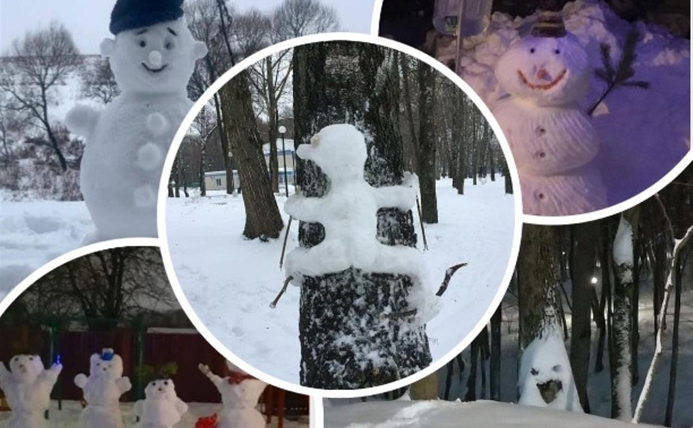 Туляки налепили креативных снеговиков: фото