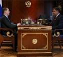 Владимир Груздев рассказал Дмитрию Медведеву об итогах своей работы на посту губернатора