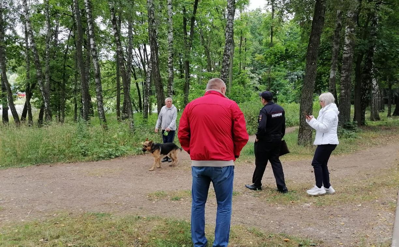 В Центральном парке Тулы прошел рейд по незаконному выгулу собак