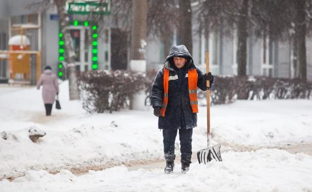 В Тульской области за ночь выпало более 15 см снега