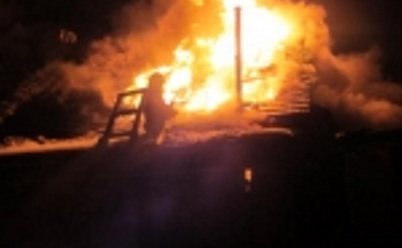 В Заокском пожарные тушили дачу