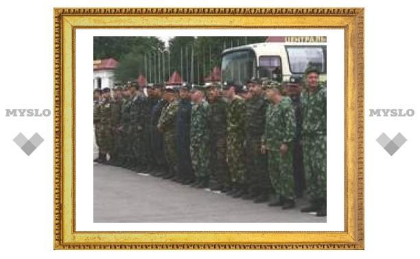 Тульские милиционеры вернулись из Чечни.