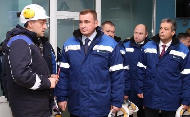 Врио губернатора Тульской области Алексей Дюмин осмотрел предприятие АО «НАК «АЗОТ»