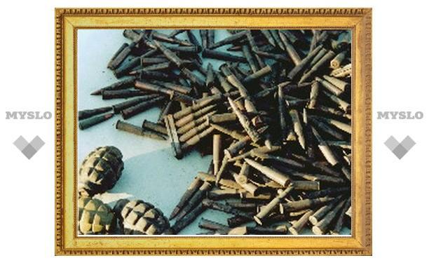 Под Тулой мужчина хранил у себя дома склад оружия