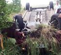 В Тульской области опрокинулся автомобиль, один человек погиб