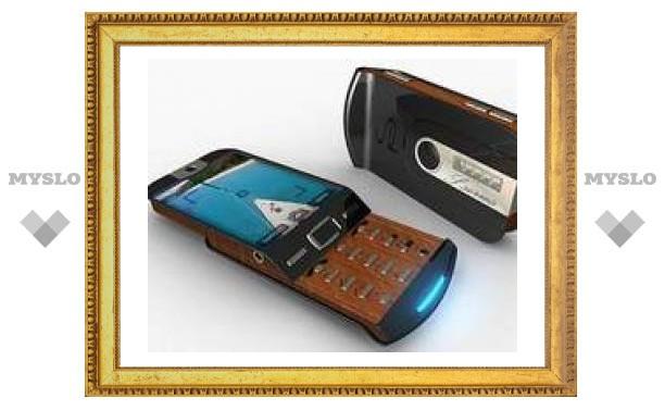 """Концепт """"древесного"""" мобильного телефона"""