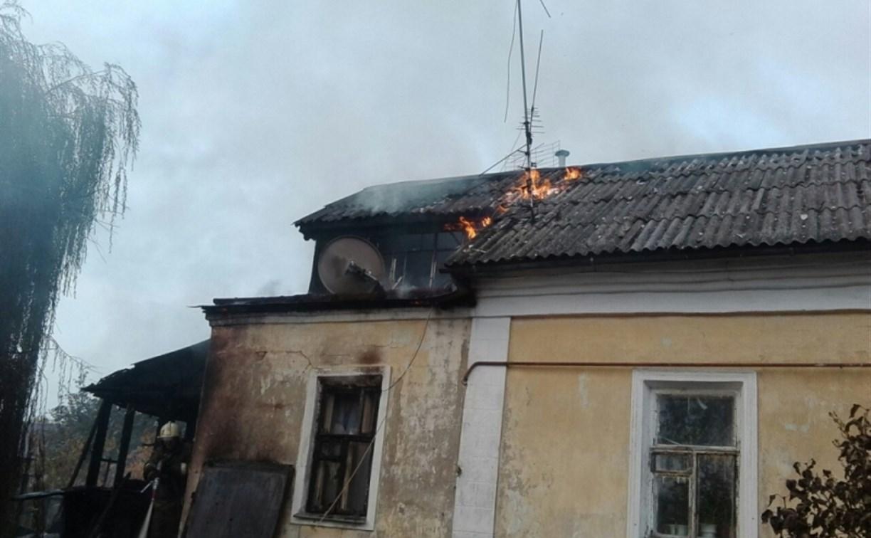 В Заречье загорелся частный дом