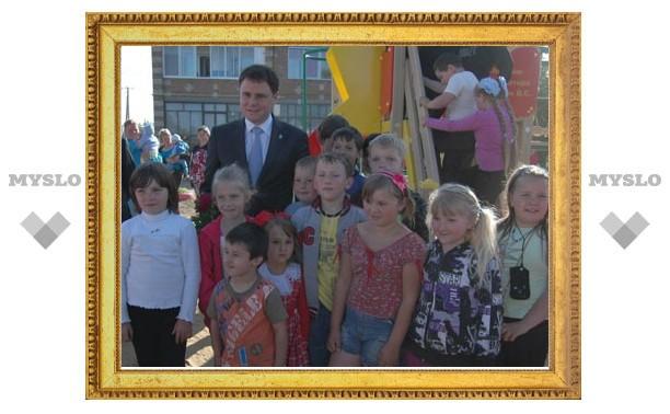 В Белеве очень популярна подаренная губернатором Тульской области детская площадка