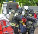 Учения: в Туле пожарные эвакуировали госпиталь для больных коронавирусом
