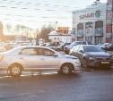 На проспекте Ленина в Туле столкнулись «Шевроле» и «Тойота»