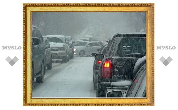 В Тулу пришел снегопад