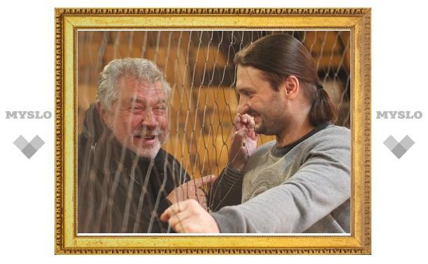 Юлий Гусман снимает кино с тиграми в Тульском цирке