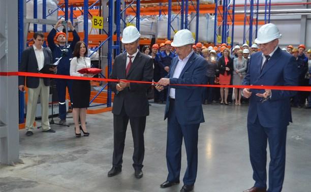 На «Полипласт Новомосковск» прошло торжественное открытие сушильно-складского комплекса