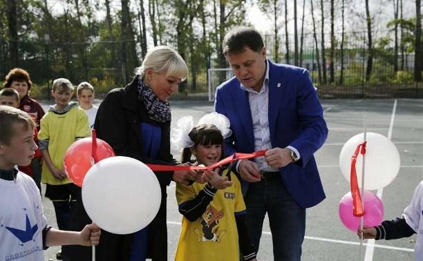 В Новогуровской коррекционной школе открыли мини-стадион