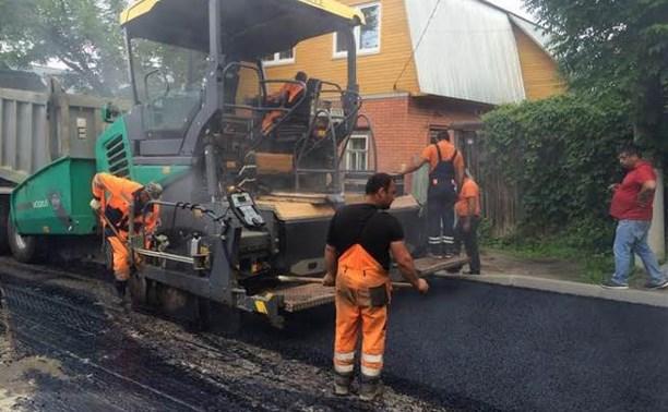 В Туле завершен ремонт 33 участков дорог