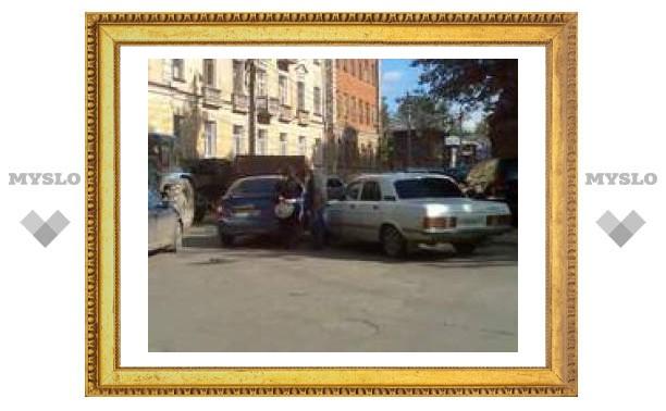 Авария в центре Тулы
