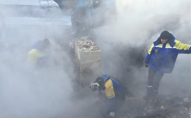 На трубопроводе Новомосковской ГРЭС произошла поломка