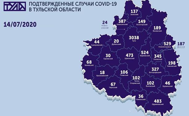 В каких городах Тульской области есть коронавирус: карта на 14 июля