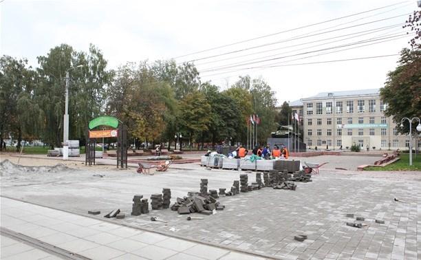 В 2015 году в Туле на тротуары выложат 30 тыс. кв. метров плитки