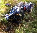В Тульской области девушка-мотоциклист улетела в кювет