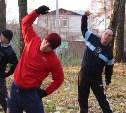 Сотрудники МЧС провели спортивную тренировку в Центральном парке