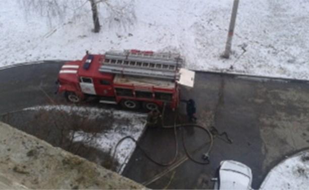Из-за пожара в Новомосковске пришлось эвакуировать семнадцать человек