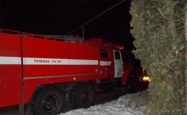 Ночью в Ефремове загорелась пятиэтажка
