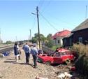 В Узловском районе поезд протаранил легковушку