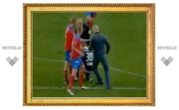 Футбольный болельщик напал на вратаря сборной Швеции
