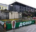 На площади Восстания в Туле демонтировали палатки с шаурмой