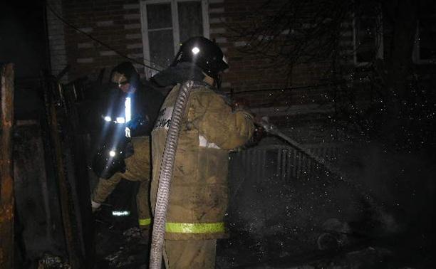 В ночном пожаре в Веневском районе погиб человек