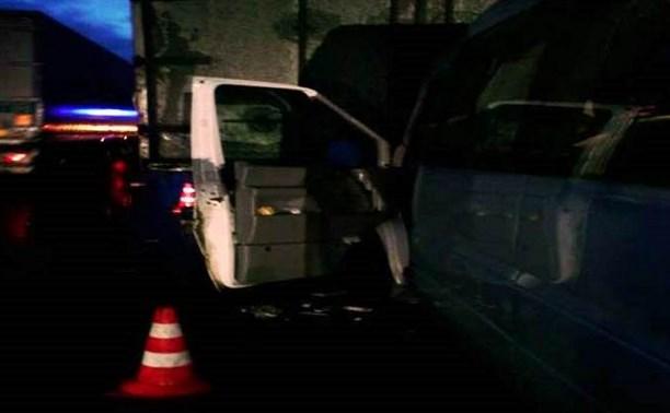 В  ДТП с участием четырех грузовиков  в Заокском районе погибли три человека
