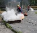 Соревнования пожарных в Туле: штурмовая лестница, учебная башня и огонь
