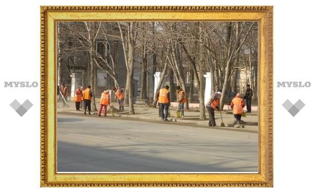 Осужденные уберут улицы Тулы ко Дню Победы