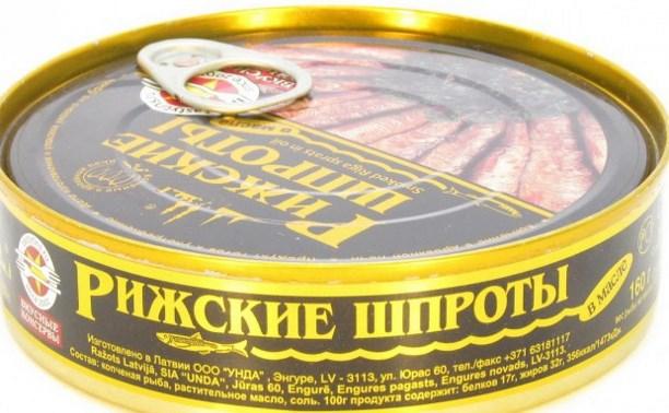 Россельхознадзор запретил ввоз латвийских и эстонских шпрот