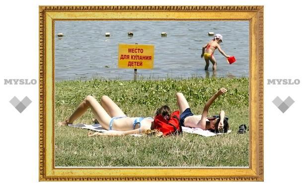 Туляков призывают купаться только в разрешенных водоемах