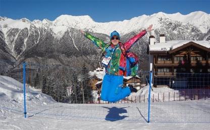 Тулячка работает волонтером на лыжных гонках в олимпийском Сочи