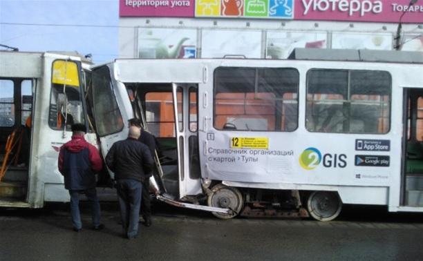 В Туле произошло массовое ДТП с участием двух трамваев