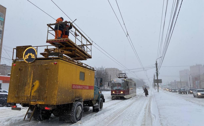 Обрыв проводов: на Зеленстрое в Туле встали трамваи