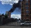 В новостройке на пересечении улиц Гоголевской и Свободы сгорело 100 кв. метров кровли