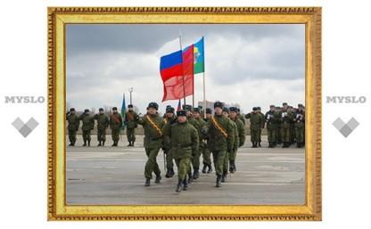 Тульские десантники репетируют парад
