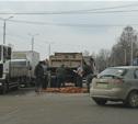 На Рязанке из грузовика высыпались кирпичи