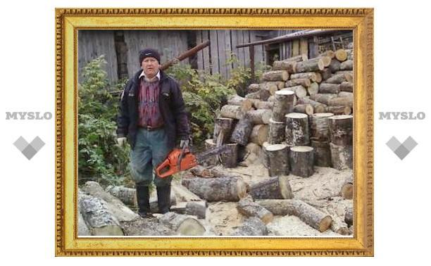 При заготовке дров погиб пенсионер