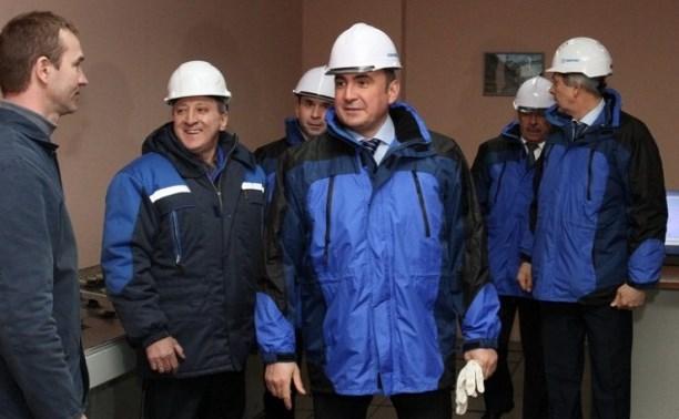 Врио губернатора Тульской области Алексей Дюмин посетил  ПАО «Тулачермет»